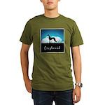 Nightsky Greyhound Organic Men's T-Shirt (dark)
