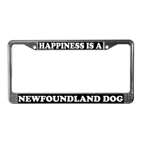 Happiness Is A Newfoundland License Plate Frame