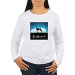 Nightsky Greyhound Women's Long Sleeve T-Shirt