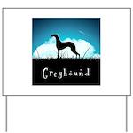 Nightsky Greyhound Yard Sign