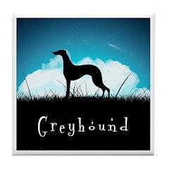 Nightsky Greyhound Tile Coaster