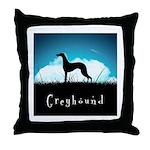 Nightsky Greyhound Throw Pillow