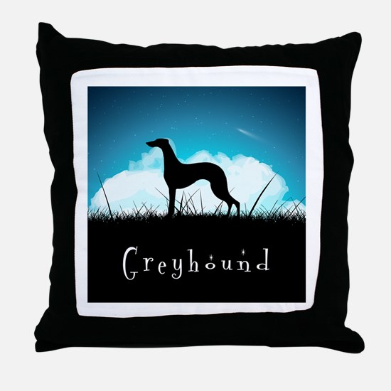 Nightsky Greyhound Throw Pillow