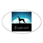 Nightsky Greyhound Sticker (Oval 10 pk)