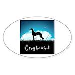 Nightsky Greyhound Sticker (Oval 50 pk)