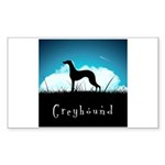 Nightsky Greyhound Sticker (Rectangle 10 pk)