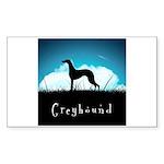 Nightsky Greyhound Sticker (Rectangle 50 pk)
