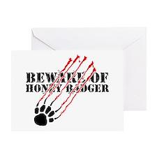 Beware of honey badger Greeting Card