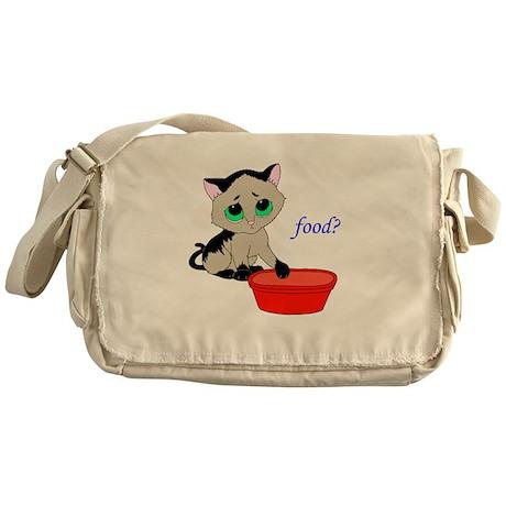 Food? (cat) Messenger Bag