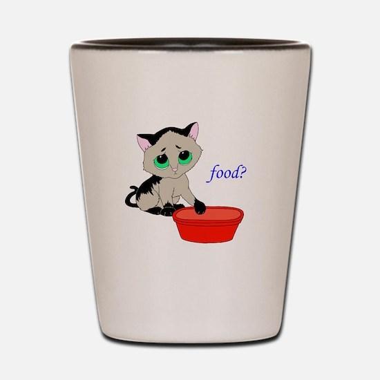 Food? (cat) Shot Glass
