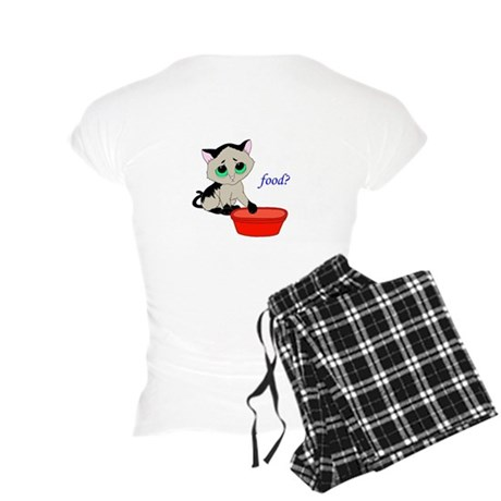 Food? (cat) Women's Light Pajamas