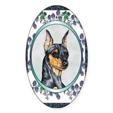 Miniature Pinscher Designer Oval Decal
