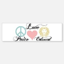 Peace love Edward Cullen Bumper Bumper Sticker