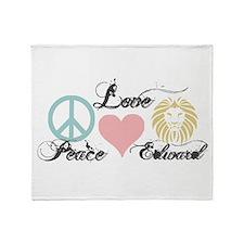 Peace love Edward Cullen Throw Blanket