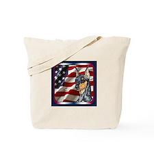 Miniature Pinscher Flag Tote Bag