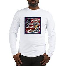Miniature Pinscher Flag Long Sleeve T-Shirt