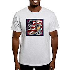 Miniature Pinscher Flag Ash Grey T-Shirt