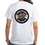 Retro Front & Back White T-Shirt