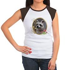 Raccoon Portrait Women's Cap Sleeve T-Shirt