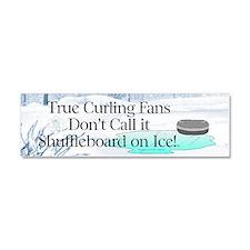TOP Curling Slogan Car Magnet 10 x 3