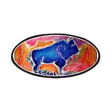 Buffalo, southwest, art, Patches