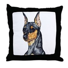 Miniature Pinscher Min Pin Throw Pillow