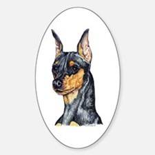 Miniature Pinscher Min Pin Oval Decal