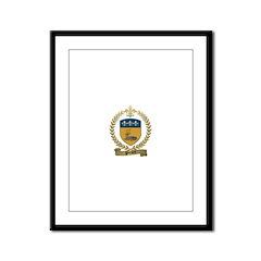 PICARD Family Crest Framed Panel Print