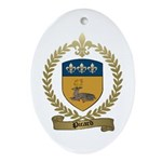 PICARD Family Crest Oval Ornament