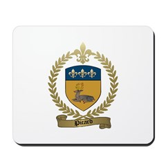PICARD Family Crest Mousepad