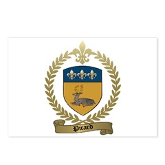 PICARD Family Crest Postcards (Package of 8)