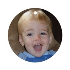 Nathan 18 Months Old Ornament (Round)