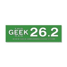 Geeks in Running Shoes 26.2 Car Magnet