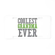Coolest Grandma Aluminum License Plate