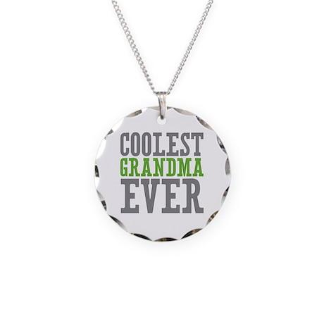 Coolest Grandma Necklace Circle Charm