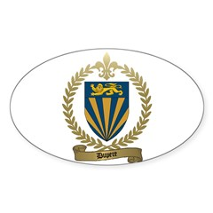 DUPERE Family Crest Oval Decal