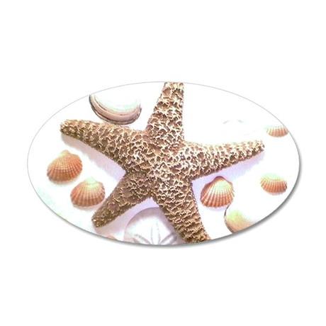 Sea Shells 22x14 Oval Wall Peel