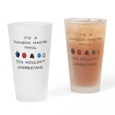 Dungeon Master Thing Drinking Glass