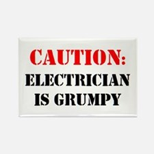 electrician is grumpy Rectangle Magnet