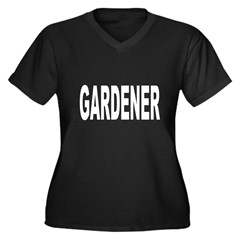 Gardener Women's Plus Size V-Neck Dark T-Shirt