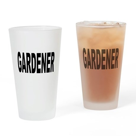 Gardener Drinking Glass