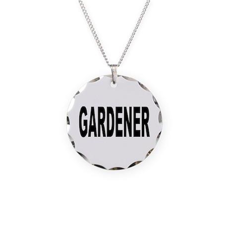 Gardener Necklace Circle Charm