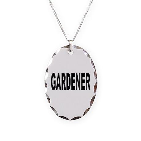 Gardener Necklace Oval Charm