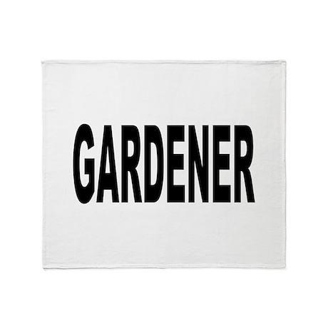 Gardener Throw Blanket