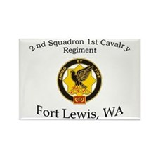 2nd Squadron 1st Cavalry Rectangle Magnet