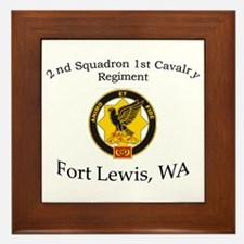 2nd Squadron 1st Cavalry Framed Tile