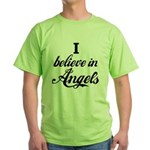 I BELIEVE IN ANGELS Green T-Shirt