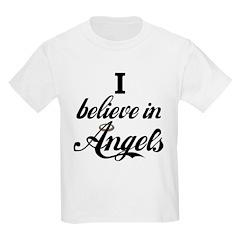 I BELIEVE IN ANGELS Kids T-Shirt