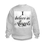 I BELIEVE IN ANGELS Kids Sweatshirt