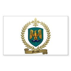 MERCURE Family Crest Rectangle Decal